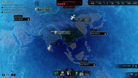 карта заданий в xcom 2