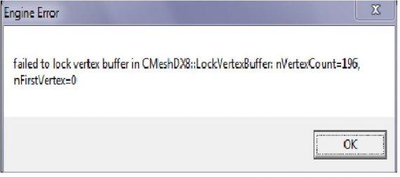 Failed to lock index buffer