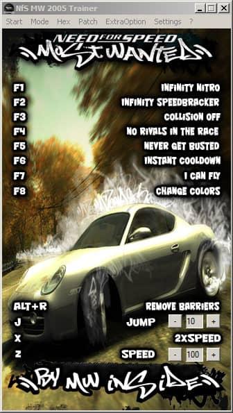 Все чит-коды для игры Need for Speed: Most Wanted (2005 года).